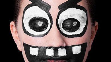Make-up Funny Monster mit Anweisungen (2)